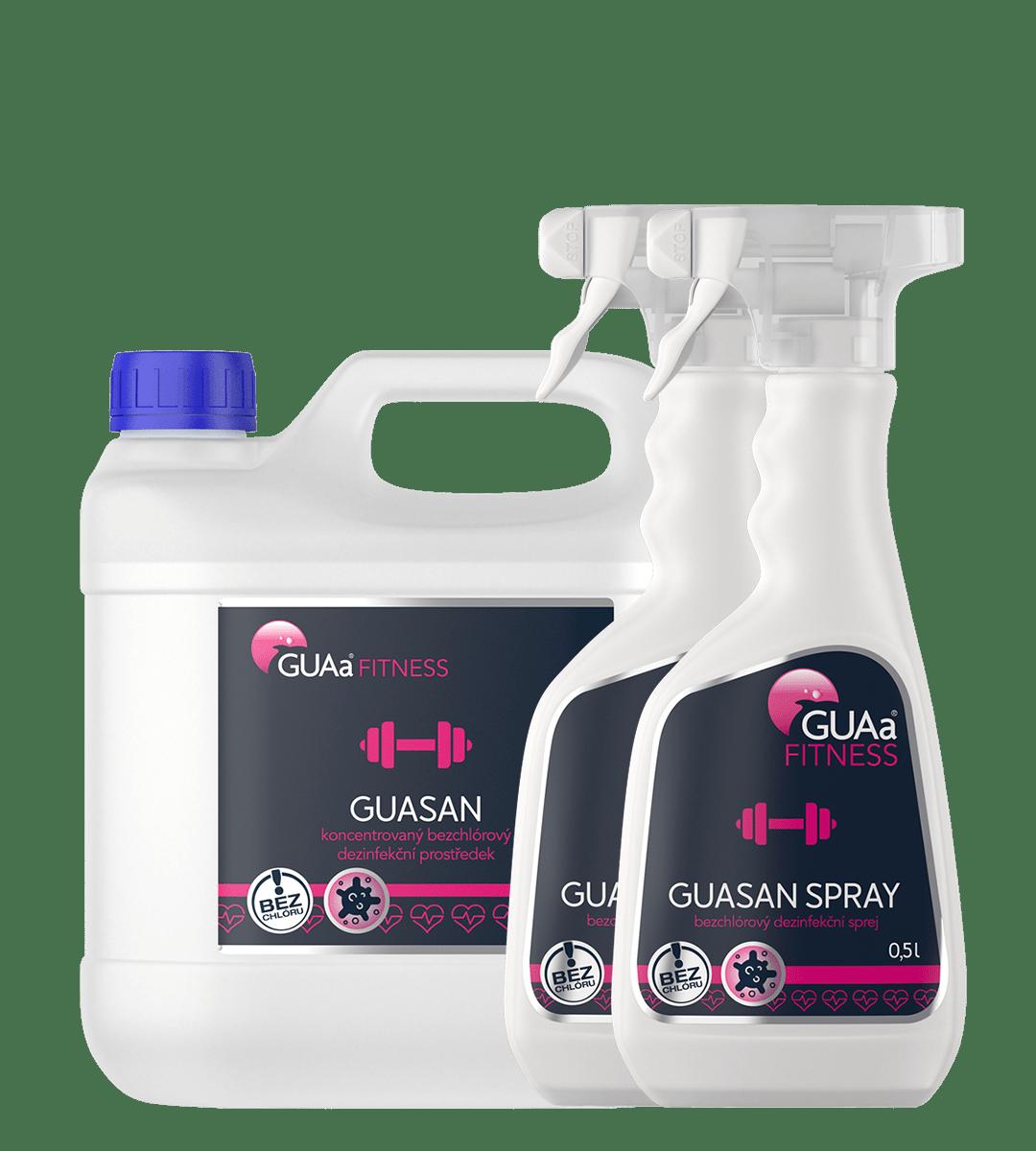 GUAa FITNESS GUASAN MEDIUM SET - střední sada bezchlórové dezinfekční chemie