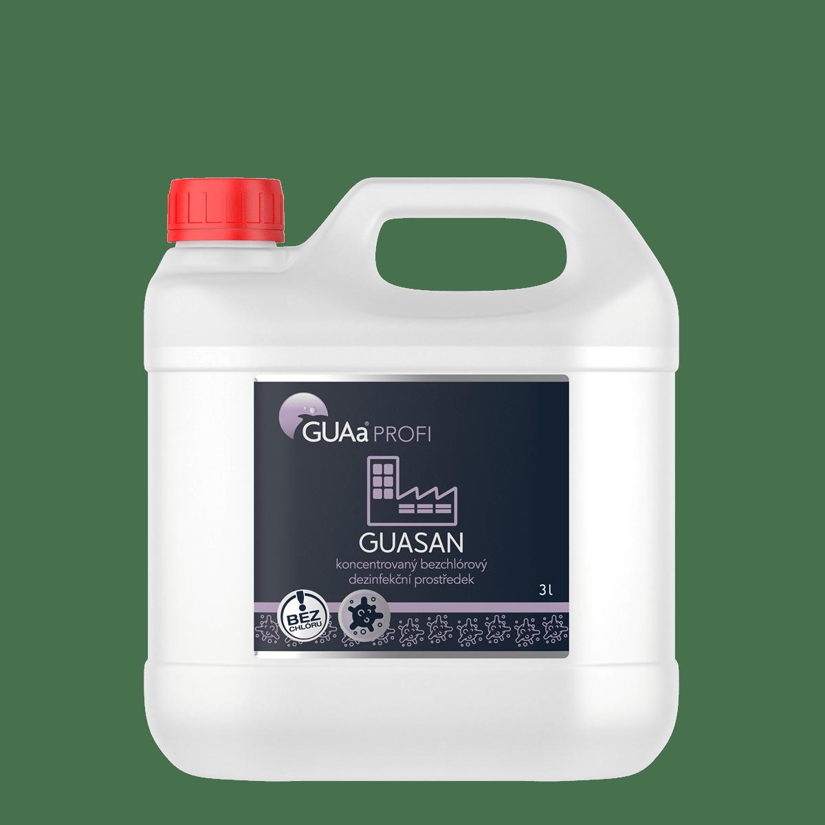 GUAa PROFI GUASAN 3 l - koncentrovaný bezchlórový dezinfekční prostředek