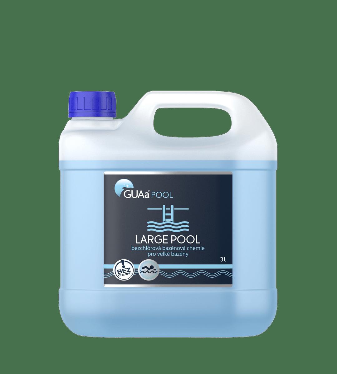GUAa POOL LARGE POOL 3 l - bezchlórová bazénová chemie pro velké bazény