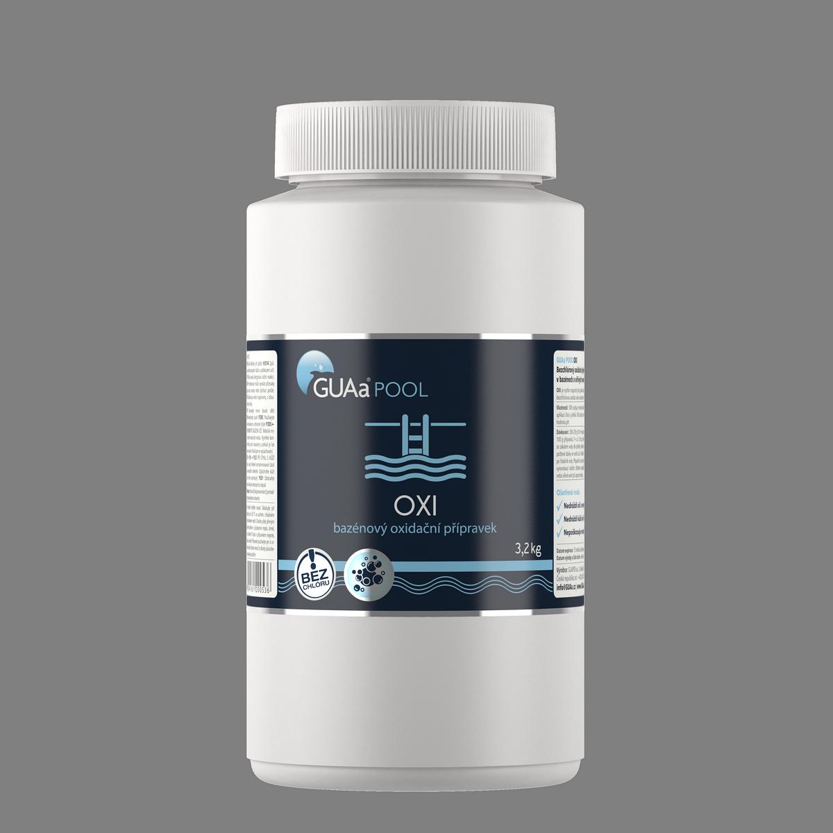 GUAa POOL OXI 3,2 kg - bezchlórový bazénový oxidační přípravek